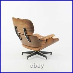 Rare 1956 Herman Miller Eames Lounge Chair and Ottoman 670 671 w Boot Glides Tan