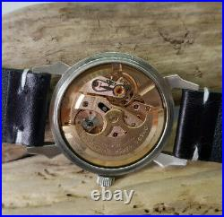 Rare 1958 Omega Seamaster Black Dial Fancy Lugs Auto Cal501 Man's Watch