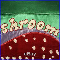 Rare 1970s Mushroom Records Satin Jacket Chain Stitch Music Memorabilia 70s VTG