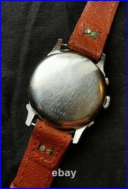 Rare 39mm antique telemetre chronograph Vintage watch lenotre omega breitling