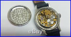 Rare 40's W. W. W. II Longines Black Dial Manual Wind Man's Watch