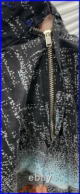 Rare 50s Vintage Grand Canyon Stars Black Novelty Print Pleated Skirt