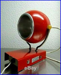 Rare 80S Mid Century Ball Globe Lamp Space Age Futurism Vintage