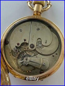 Rare Albert Potter Hunting Case 18k Gold Pocket Watch