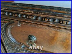 Rare Antique Dresser with 3 Drawers, 34.5 H x 46 W x 20 D, Early 1900's
