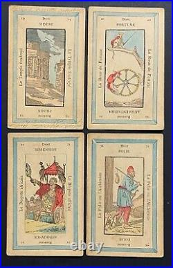 Rare Antique French 1800s Etteilla Z. Lismon Tarot (Type II) Cards Vintage
