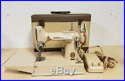Rare Antique Vintage Tan 221K Singer Featherweight Sewing Machine & Case