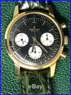 Rare Breitling TOP-TIME Panda Gilt Dial Chronograph Watch Ref. 810 Venus 178