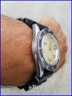 Rare Favre Leuba Deep Blue Automatic Vintage Diving Watch