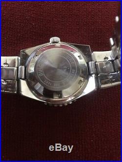 Rare HTF Vintage Bulova Accutron Snorkel Lady Diver Coke Bezel Watch 1973