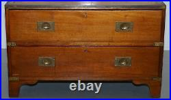 Rare Hobbs & Co 1930 Stamped Military Campaign Chest Of Drawers, Rare Original
