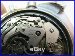 Rare Lejour Super Meangraf Valjoux 7733 Rally 2 Register Chronograph Watch Yema