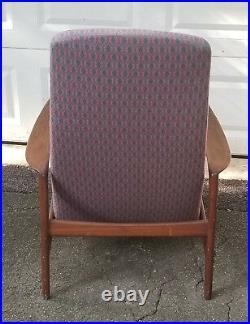Rare MID Century Modern Folke Ohlsson Dux Reclining Lounge Chair & Ottoman