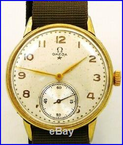 Rare Original Vintage Men 1944 Omega Manual Wind Service 30t2 Ref. 2271-1 Run