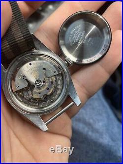 Rare Rolex Vintage Men's 40mm 6542 GMT Master Pepsi Bakelite Bezel