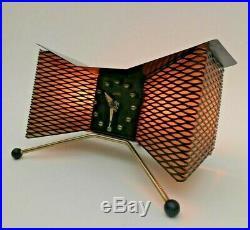 Rare STUNNING Vtg 1950s Majestic Mid Century Mod ATOMIC Clock/Tv Lamp by SNIDER