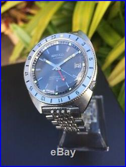 Rare Seiko Navigator Timer 6117-8000 Vintage GMT Watch From 1969 Newly Serviced