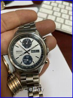 Rare Seiko Panda Chronograph 6138 Japan Automatic