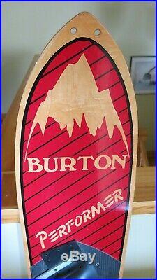 Rare VINTAGE Burton Performer Prototype Snowboard