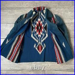 Rare Vintage 1940s 50s Chimayo Jacket Native American Woven SouthWestern