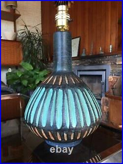 Rare Vintage 1950s 1960s Mark Valcera Pottery Lamp Base