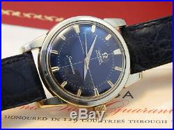 Rare Vintage 1950s Omega Seamaster Automatic Cal 501 Cross Hair Dial Box Papers