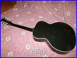 Rare Vintage 1959 Harmony H1250 Jamboree 16 acoustic guitar new frets VG+