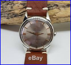 Rare Vintage 1961 Omega Constellation Grey Dial Auto Cal 551 Man's Watch