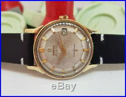 Rare Vintage 1966 Omega Constellation Pie Pan 18k Cap Auto Cal561 Man's Watch