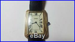 Rare Vintage 1970s Oversized Cartier Tank Tropical Dial mechanical watch