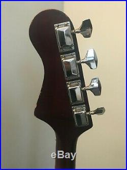 Rare Vintage 1972 Harmony H-420 Bass with 2 DeArmond Pickups