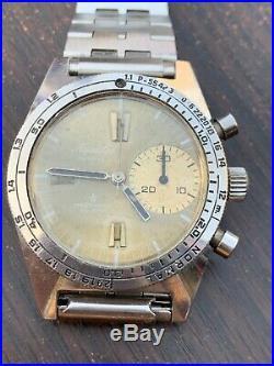 Rare Vintage Aquastar Duward Deepstar Valjoux 92 Chronograph Big Eye Watch