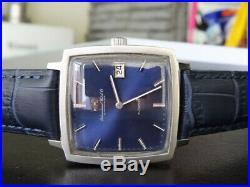 Rare Vintage Circa 1971 Iwc Schaffhausen Automatic Date Blue Dial