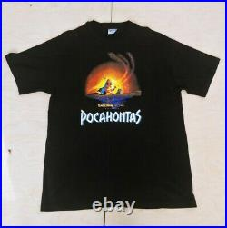 Rare Vintage Disney Pocahontas Movie Promo Tee t shirt 90s XL Single Stitch