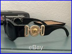 Rare Vintage GIANNI VERSACE Gold Medusa Head Sunglasses