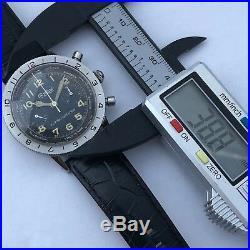 Rare Vintage Gallet Flight Officer Chronograph Landeron 248 39 MM Pilot