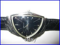 Rare Vintage Hamilton Ventura Wrist Watch Genuine Crocodile 16R