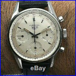 Rare Vintage Heuer Carrera Chronograph Valjoux 72 First Execution Tachy Ref 2447
