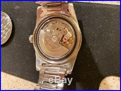 Rare Vintage JeanRichard Geneve Aquastar Automatic 17 Jewels 10 ATM Diver Watch