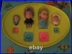 Rare Vintage Liddle Kiddles Chitty Chitty Bang Bang Little Doll Set Storybook