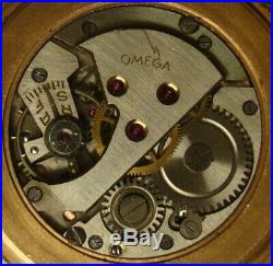 Rare Vintage Men's wrist watch OMEGA. 1950s. Gold plated