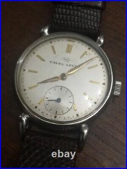 Rare Vintage Mens Gents IWC International Watch Co Favre Leuba Wristwatch Watch