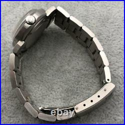 Rare Vintage OMEGA Dynamic Blue White Dial Original Strap Stainless Women's Watc