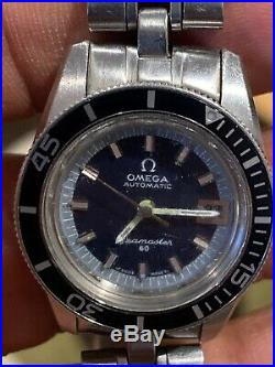 Rare, Vintage OMEGA SEAMASTER 60 BIG CROWN AUTOMATIC 24 Jewels 566.024 25.5mm