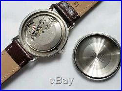Rare Vintage Polaris Mens Watch Automatic Movement 25 Jewels Day & Date Display