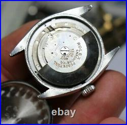 Rare Vintage ROLEX REF 6084 Honeycomb Waffle Dial with Band 1950s