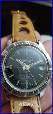 Rare Vintage Transglobe Concerta Diver Automatic Blue Dial Man Wrist Watch
