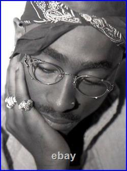 Rare Vintage Tupac Jean Paul Gaultier JPG 55-3175 Platinum Sunglasses Grey Grad