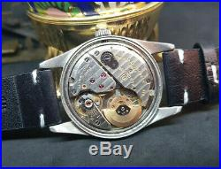 Rare Vintage Universal Polerouter Geneve Black Dial Automatic Man's Watch