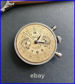 Rare Vintage Vetta Impermeable Ermetico Clamshell Chronograph Valjoux 22